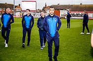 Wimbledon forward Kwesi Appiah (9) on the pitch during the The FA Cup 3rd round match between Fleetwood Town and AFC Wimbledon at the Highbury Stadium, Fleetwood, England on 5 January 2019.