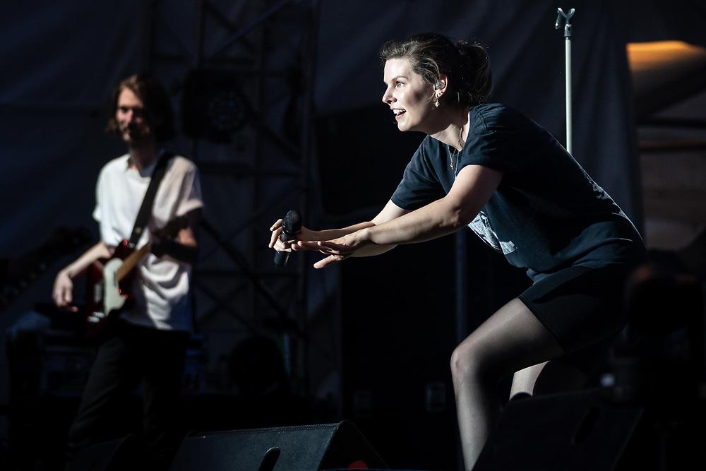 Eva Briegel of German indie-pop band Juli at Stadtfest Ludwigshafen
