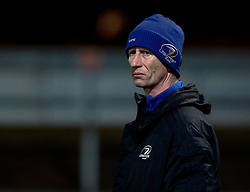 Head Coach Leo Cullen of Leinster during the pre match warm up<br /> <br /> Photographer Simon King/Replay Images<br /> <br /> Guinness PRO14 Round 10 - Dragons v Leinster - Saturday 1st December 2018 - Rodney Parade - Newport<br /> <br /> World Copyright © Replay Images . All rights reserved. info@replayimages.co.uk - http://replayimages.co.uk