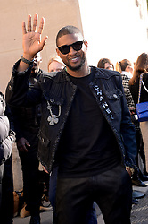 Usher arriving at the Chanel show as a part of Paris Fashion Week Ready to Wear Spring/Summer 2017 on October 4, 2016 in Paris, France. Photo by Julien Reynaud/APS-Medias/ABACAPRESS.COM