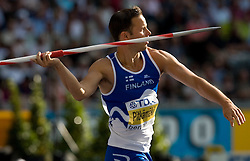 Tero Pitkamaki of Finland competes in the men's Javelin Throw Final during day nine of the 12th IAAF World Athletics Championships at the Olympic Stadium on August 23, 2009 in Berlin, Germany. (Photo by Vid Ponikvar / Sportida)