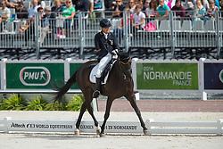 Steffen Zeibig, (GER), Feel Good 4 - Freestyle Test Grade III Para Dressage - Alltech FEI World Equestrian Games™ 2014 - Normandy, France.<br /> © Hippo Foto Team - Leanjo de Koster<br /> 25/06/14