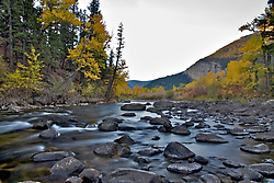 Fall Colors on the Boulder River south of Big Timber  Montana