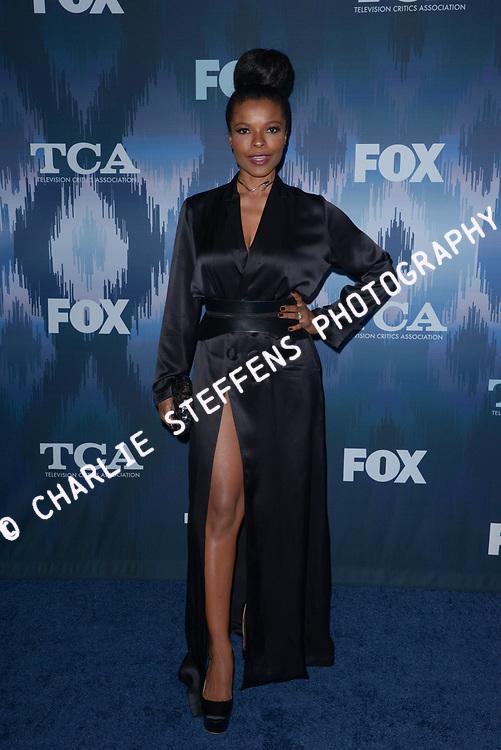 KEESHA SHARP at the Fox Winter TCA 2017 All-Star Party at the Langham Hotel in Pasadena, California
