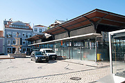 Exterior of the main fish market, Aveiro, Portugal Established in 1904