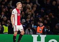 Football - 2019 / 2020 UEFA Champions League - Group H: Chelsea vs. Ajax<br /> <br /> Donny van de Beek (Ajax FC) celebrates after scoring at Stamford Bridge <br /> <br /> COLORSPORT/DANIEL BEARHAM