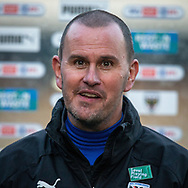 AFC Wimbledon manager Mark Robinson after the EFL Sky Bet League 1 match between AFC Wimbledon and Hull City at Plough Lane, London, United Kingdom on 27 February 2021.