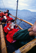 Hokulea sailing off Oahu, Hawaii