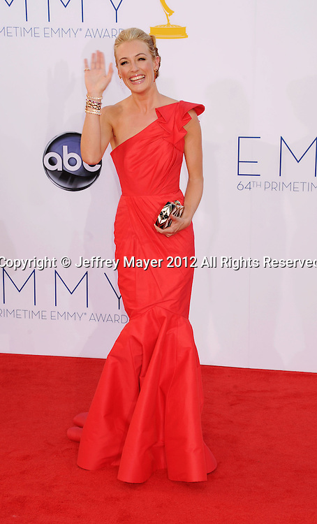 LOS ANGELES, CA - SEPTEMBER 23: Cat Deeley arrives at the 64th Primetime Emmy Awards at Nokia Theatre L.A. Live on September 23, 2012 in Los Angeles, California.