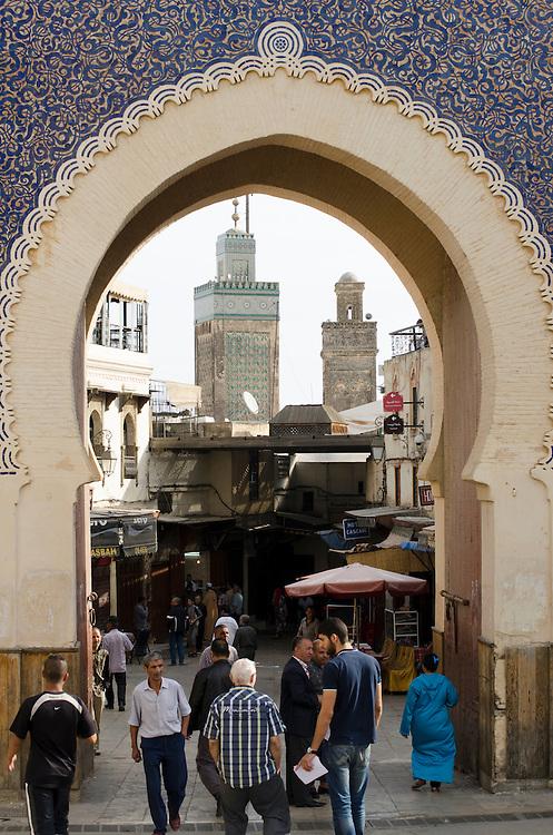 Bab Bou Jeloud gate, Fes el Bali Morocco