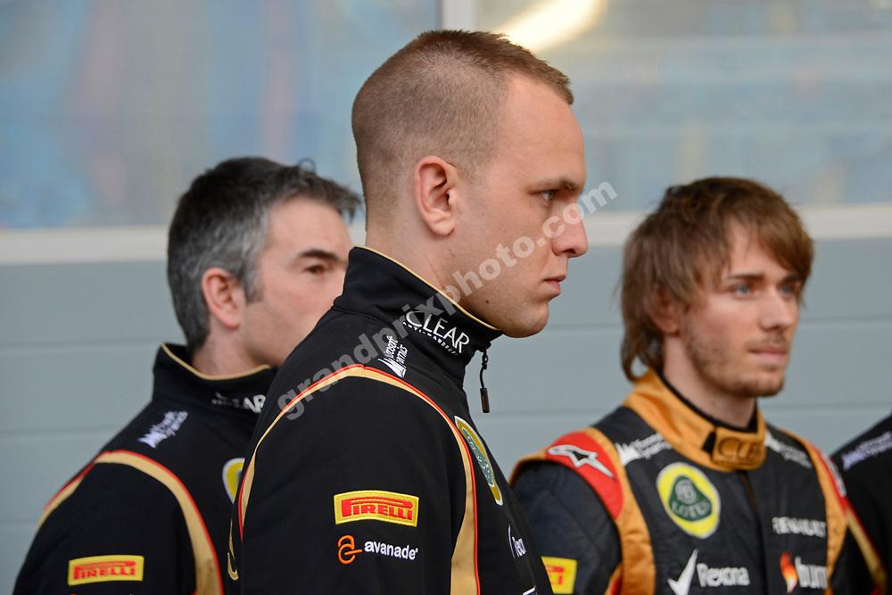 Marco Sørensen (Lotus-Renault) during testing at the Bahrain International Circuit in February 2014. Photo: Grand Prix Photo