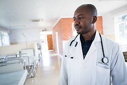 2 March 2017, Ma Mafefooane Valley, Lesotho: Dr N. G. Suaka at work at Saint Joseph's Hospital. Saint Joseph's Hospital is a district hospital in the Ma Mafefooane Valley in Lesotho. The hospital was established in 1937 and is run as a Roman Catholic non-profit institution by the Christian Health Association of Lesotho. As a district hospital, it offers comprehensive healthcare including male, female, paediatric, Tuberculosis and maternity care. It is closely linked with the neighbouring Roma College of Nursing, which runs on similar premises as part of the same institution. Drug supplies are secured to the hospital by means of a Memorandum of Understanding with the government.
