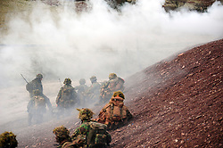 © London News Pictures. File picture dated 21/01/2011. Soldiers take part in the PSBC (platoon sergeants' battle course) qualifying-course in Brecon, south Wales in January 2011. Rifles soldier Joshua Hoole died during Brecon training yesterday (Tues) on what was the hottest day of the year so far. Photo credit: Andrew Chittock/LNP