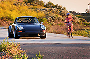 Image of a black 1973 Porsche 911 RSR tribute car in Newport Beach, Orange County, California by Randy Wells