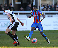 Crystal Palace Wilfried Zaha during the The FA Cup Third Round match between Dover Athletic and Crystal Palace at Crabble Athletic Ground, Dover, United Kingdom on 4 January 2015. Photo by Phil Duncan.