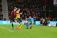 Football - 2019 / 2020 Emirates FA Cup - Fourth Round: AFC Bournemouth vs. Arsenal<br /> <br /> Bournemouth's Sam Surridge pulls a goal back for the cherries late on during the FA Cup match at the Vitality Stadium (Dean Court) Bournemouth <br /> <br /> COLORSPORT/SHAUN BOGGUST