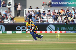 July 1, 2019 - Chester Le Street, County Durham, United Kingdom - Sri Lanka's Kusal Mendis batting during the ICC Cricket World Cup 2019 match between Sri Lanka and West Indies at Emirates Riverside, Chester le Street on Monday 1st July 2019. (Credit Image: © Mi News/NurPhoto via ZUMA Press)