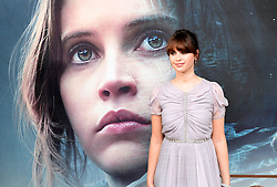 Felicity Jones attending a special screening of Rogue One: A Star Wars Story at the BFI IMAX, London.