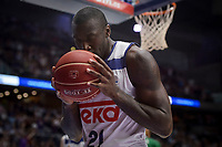 Real Madrid's Othello Hunter during semi finals of playoff Liga Endesa match between Real Madrid and Unicaja Malaga at Wizink Center in Madrid, May 31, 2017. Spain.<br /> (ALTERPHOTOS/BorjaB.Hojas)