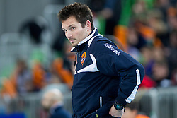 Luka Slabe, head coach of ACH during volleyball match between ACH Volley and Lube Banca Marche Macerata (ITA) in 5th Leg of Pool D of 2013 CEV Champions League on December 5, 2012 in Arena Stozice, Ljubljana, Slovenia. ACH defeated Macerata 3-1. (Photo By Vid Ponikvar / Sportida)