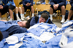 14 April 2008: North Carolina Tar Heels men's lacrosse midfielder Tommy D'Alessandro (17) during a practice day in Chapel Hill, NC.