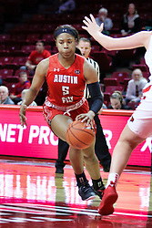 NORMAL, IL - December 04: Myah Leflore during a college women's basketball game between the ISU Redbirds  and the Austin Peay Governors on December 04 2018 at Redbird Arena in Normal, IL. (Photo by Alan Look)
