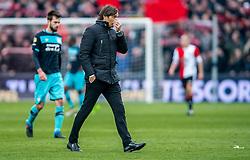 25-02-2017 NED: Feyenoord - PSV, Rotterdam<br /> 24e speelronde van seizoen 2016-2017, De Kuip / Coach Phillip Cocu of PSV