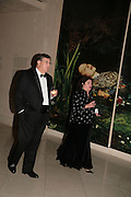 Robert and Ann Wiggins, Millais exhibition opening and Dinner. Tate Gallery. 24 September 2007. -DO NOT ARCHIVE-© Copyright Photograph by Dafydd Jones. 248 Clapham Rd. London SW9 0PZ. Tel 0207 820 0771. www.dafjones.com.