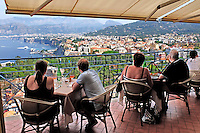 Panoramic view of Sorrento, Italy, from rooftop bar & restaurant, Hotel Bristol. September, 2015, 201509191668<br /> <br /> Copyright Image from Victor Patterson, 54 Dorchester Park, Belfast, UK, BT9 6RJ<br /> <br /> t1: +44 28 9066 1296<br /> t2: +44 28 9002 2446<br /> m: +44 7802 353836<br /> e: victorpatterson@me.com<br /> <br /> www.victorpatterson.com<br /> <br /> IMPORTANT: Please see my Terms and Conditions of Use at www.victorpatterson.com