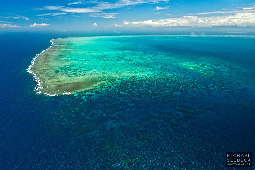 The north-eastern end of Arlington Reef, one of the longest individual reefs of the Great Barrier Reef near Cairns.<br /> <br /> Open Edition Print / Stock Image