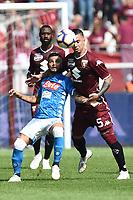 Lorenzo Insigne-Armando Izzo <br /> Torino 23-09-2018 Stadio Olimpico Grande Torino Football Calcio Serie A 2018/2019 Torino - Napoli Foto Image Sport / Insidefoto