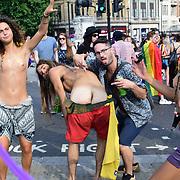 Pride in London Parade 2018 in Trafalgar square