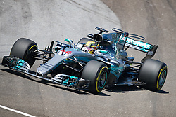November 10, 2017 - Sao Paulo, Sao Paulo, Brazil - 44 LEWIS HAMILTON (GBR) of Mercedes AMG Petronas F1 Team, drives during the free training day for the Formula One Grand Prix of Brazil at Interlagos circuit, in Sao Paulo, Brazil. The grand prix will be celebrated next Sunday, November 12. (Credit Image: © Paulo Lopes via ZUMA Wire)