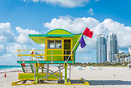 Lifeguard stand on Miami Beach.