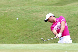 May 14, 2017 - Ponte Vedra Beach, Florida, United States - Jason Day hits out of a greenside bunker on the second hole during the final round of The PLAYERS Championship at TPC Sawgrass. (Credit Image: © Debby Wong via ZUMA Wire)