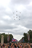 Puma HC2, Chinook HC4, RAF100 Parade and Flypast, The Mall & Buckingham Palace, London, UK, 10 July 2018, Photo by Richard Goldschmidt, Royal Air Force Centenary parade and flypast of RAF aircraft over London.