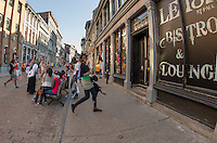 Street Photography in Vieux Port, Montreal Canada July 9, 2012.