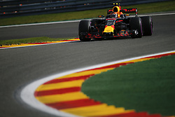 August 25, 2017 - Francorchamps, Belgium - MAX VERSTAPPEN of the Netherlands and Red Bull Racing drives during practice session of the 2017 Formula 1 Belgian Grand Prix in Francorchamps, Belgium. (Credit Image: © James Gasperotti via ZUMA Wire)