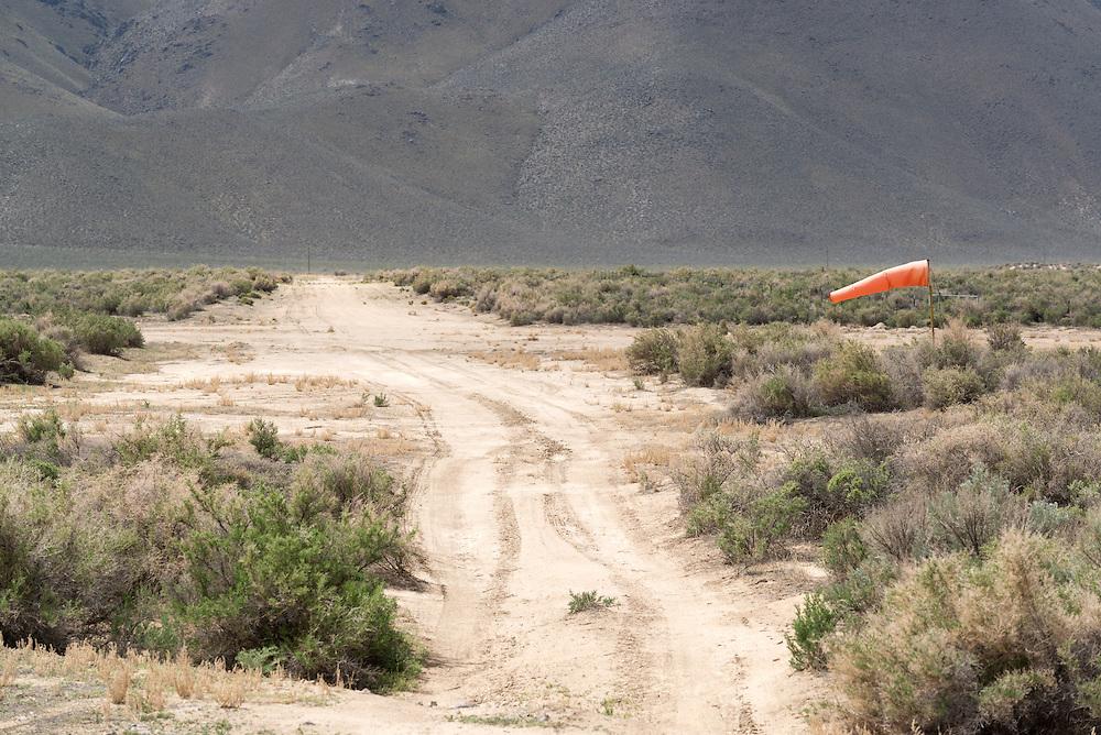 Dirt air strip outside Denio, Nevada.