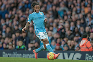 Raheem Sterling (Manchester City) during the Barclays Premier League match between Manchester City and Tottenham Hotspur at the Etihad Stadium, Manchester, England on 14 February 2016. Photo by Mark P Doherty.