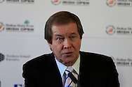 George O'Grady, Chief Executive, European Tour, at the announcement of title sponsor for the Irish Open  to be the Dubai Duty Free Irish Open, to be held at Royal Co Down Golf Club, Newcastle, Co Down, Northern Ireland.<br /> Picture: Fran Caffrey / Golffile