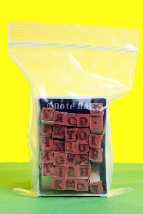 rubber letter stamp