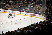 SHOT 11/28/09 10:20:52 PM - Colorado Avalanche goaltender Craig Anderson (#41) keeps an eye on the action while playing against the Minnesota Wild during the third period of their regular season NHL game at the Pepsi Center in Denver, Co. The Minnesota Wild won the game 3-2 in an overtime shootout. (Photo by Marc Piscotty / © 2009)