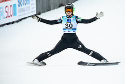 Ursa Bogataj of Slovenia during 2nd Round at Day 1 of World Cup Ski Jumping Ladies Ljubno 2019, on February 8, 2019 in Ljubno ob Savinji, Slovenia. Photo by Matic Ritonja / Sportida