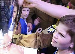 April 21, 2018 - Kiev, Ukraine - People take pictures with UEFA Champions League Cups in Kyiv, Ukraine, April 21,   2018. UEFA's Champions League and Women Champions League Cups arrive in Kyiv, amid Ukraine's preparations to host UEFA Champions League and UEFA Women Champions League Finals. (Credit Image: © Sergii Kharchenko/NurPhoto via ZUMA Press)