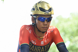 May 20, 2018 - Sakai, Osaka, Japan - Japanese rider Yukiya Arashiro from team Bahrain - Merida, during a warm up ahead of the opening stage, 2.6km Individual Time Trial in Daisen Park, Sakai..On Sunday, May 20, 2018, in Sakai,  Osaka Prefecture, Japan. (Credit Image: © Artur Widak/NurPhoto via ZUMA Press)