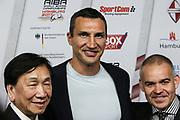 Boxen: AIBA Box-WM, Finale, Hamburg, 02.09.2017<br /> AIBA Praesident Dr Ching-Kuo Wu und Wladimir Klitschko <br /> © Torsten Helmke