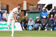Jeetan Patel of Warwickshire bowling during the Specsavers County Champ Div 1 match between Yorkshire County Cricket Club and Warwickshire County Cricket Club at York Cricket Club, York, United Kingdom on 17 June 2019.