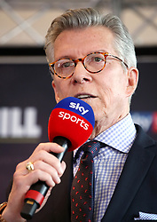 Announcer Michael Buffer during the weigh in at Arena Birmingham.