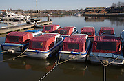 Boats at early morning, Oulton Broad, Suffolk, England